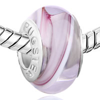 Charms Beads - GREY VIOLET INNER TRANSLUCENT MURANO GLASS BEADS CHARMS BRACELETS FIT ALL BRANDS alternate image 1.