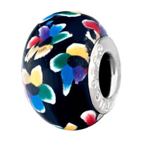 - COLORFUL ABSTRACT DRAWING BLACK POLYMER CLAY BEADS alternate image 1.
