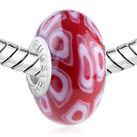 Charms Beads - POLYMER WHITE CELL SILVER MURANO GLASS BEADS CHARMS BRACELETS FIT ALL BRANDS alternate image 1.