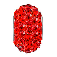 Sterling Silver Jewelry - BIRTHSTONE CHARMS 925 STERLING SILVER GORGEOUS RED CRYSTAL BEAD FIT BEAD alternate image 2.