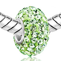Sterling Silver Jewelry - BIRTHSTONE CHARMS JEWELRY 925 STERLING SILVER PERIDOT GREEN BEAD FIT BEAD alternate image 1.