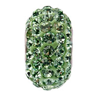 Sterling Silver Jewelry - BIRTHSTONE CHARMS JEWELRY 925 STERLING SILVER PERIDOT GREEN BEAD FIT BEAD alternate image 2.