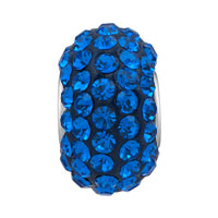 Sterling Silver Jewelry - BIRTHSTONE CHARMS JEWELRY 925 STERLING SILVER SAPPHIRE BLUE CRYSTAL BEAD alternate image 2.