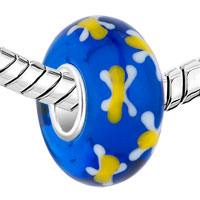 Sterling Silver Jewelry - CUTE YELLOW BUTTERFLY SAPPHIRE 925  STERLING SILVER MURANO GLASS BEADS CHARMS BRACELETS FIT ALL BRANDS alternate image 1.