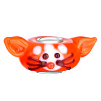 Charms Beads - CUTE MOUSE RAT RUBY RED ANIMAL FIT ALL BRANDS MURANO GLASS BEADS CHARMS BRACELETS alternate image 2.