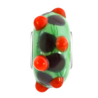 New Arrivals - YELLOW CITRINE BUD WITH BLUE DOTS SPRING GREEN FIT ALL BRANDS MURANO GLASS BEADS CHARMS BRACELETS alternate image 2.