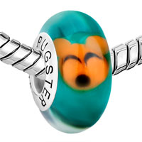Sterling Silver Jewelry - 925  STERLING SILVER CUTE ORANGE MOUSE EMERALD GREEN FIT ALL BRANDS MURANO GLASS BEADS CHARMS BRACELETS alternate image 1.