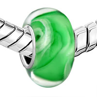 Sterling Silver Jewelry - EMERALD GREEN ICE CREAM 925  STERLING SILVER FITS MURANO GLASS BEADS CHARMS BRACELETS FIT ALL BRANDS alternate image 1.