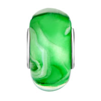 Sterling Silver Jewelry - EMERALD GREEN ICE CREAM 925  STERLING SILVER FITS MURANO GLASS BEADS CHARMS BRACELETS FIT ALL BRANDS alternate image 2.