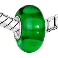 Sterling Silver Jewelry - GREEN HIDE CIRCLE 925  STERLING SILVER SOLID CORE GIFT JEWELRY FITS MURANO GLASS BEADS CHARMS BRACELETS FIT ALL BRANDS alternate image 1.