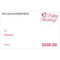 relation - WEDDING' S DAY $10   $1000  GIFT CARD CERTIFICATE WHITE BLACK WEDDING' S DAY ACCESSORIES alternate image 1.