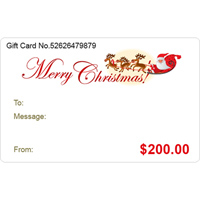 Pugster Gift Center - $10  TO $1000  CHRISTMAS GIFT CARD ADD YOUR CUSTOM PHOTO alternate image 2.