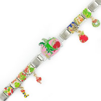 Italian Charms - 18  LINKS DANGLE GRINCH CHRISTMAS LICENSED ITALIAN CHARMS BRACELET LICENSED CHARM BRACELET alternate image 1.