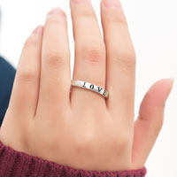 Rings - 925  STERLING SILVER PERSONALIZED FRIENDSHIP LOVE RING CUSTOMED RINGS GIFTS SIZE  8 alternate image 3.