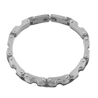 Bracelets - FASHION MEN' S HEAVY TITANIUM STEEL STAINLESS STEEL BRACELET alternate image 1.