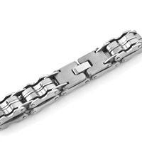 Bracelets - FASHION MEN' S HEAVY TITANIUM STEEL STAINLESS STEEL BRACELET alternate image 3.