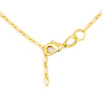 Necklaces - GOLDEN TONE LINK CHAIN NECKLACE NEW FASHION JEWELRY 20  INCHES alternate image 1.