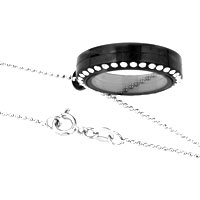 Necklace & Pendants - NEW JEWELRY BLACK MEDIUM LIVING LOCKET BIRTHSTONES CHARMS PENDANT NECKLACES alternate image 3.