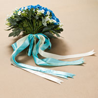 KSEB SHEB Items - NEW HANDMADE PE BLUE FLOWER WEDDING FLORAL ROSE BOUQUET HEIRLOOM alternate image 1.
