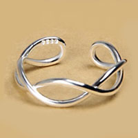 Rings - 925  STERLING SILVER VINTAGE WAVE INFINITY WOMENS OPENING STATEMENT RING alternate image 1.