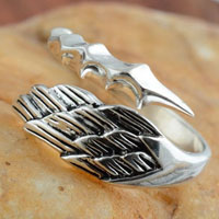 Rings - NEW WOMEN/ MEN ANGEL WING VINTAGE 925  STERLING SILVER OPENING ADJUSTABLE RINGS alternate image 1.