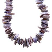 Necklaces - CHIP STONE NECKLACES COLORFUL AMETHYST BROWN GENUINE STONE CHIPS NECKLACE alternate image 1.