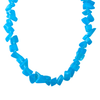 Necklaces - CHIP STONE NECKLACES BLUE TOPAZ GENUINE ARAGONITE STONE CHIPS NECKLACE PENDANT alternate image 1.