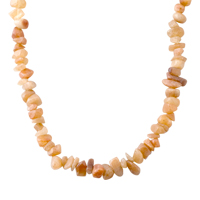 Necklaces - CHIP STONE NECKLACES TOPAZ YELLOW GENUINE ARAGONITE STONE CHIPS NECKLACE alternate image 1.