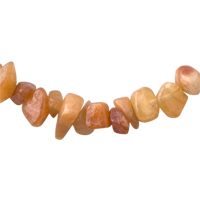 Necklaces - CHIP STONE NECKLACES TOPAZ YELLOW GENUINE ARAGONITE STONE CHIPS NECKLACE alternate image 2.