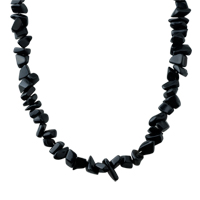 Necklaces - BLACK ONYX CHIP STONE NECKLACES GENUINE ARAGONITE STONE CHIPS NECKLACE alternate image 1.