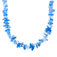 Necklaces - CHIP STONE NECKLACES BLUE WHITE GENUINE ARAGONITE STONE CHIPS NECKLACE alternate image 1.