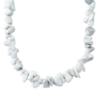 Necklaces - CHIP STONE NECKLACES IVORY WHITE GENUINE ARAGONITE STONE CHIPS NECKLACE alternate image 1.