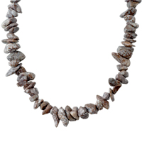 Necklaces - CHIP STONE NECKLACES SMOKEY QUARTZ GENUINE STONE ARAGONITE CHIPS NECKLACE alternate image 1.