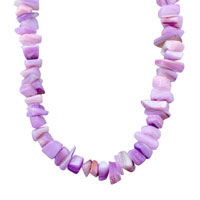 Necklaces - CHIP STONE NECKLACES AMETHYST PURPLE GENUINE ARAGONITE STONE CHIPS NECKLACE alternate image 1.