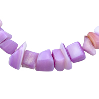 Necklaces - CHIP STONE NECKLACES AMETHYST PURPLE GENUINE ARAGONITE STONE CHIPS NECKLACE alternate image 2.
