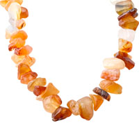 Necklaces - CARNELIAN CHIP STONE NECKLACES ARAGONITE STONE CHIPS NECKLACE FOR WOMEN alternate image 1.
