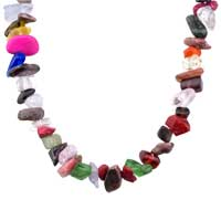 Necklace & Pendants - CHIP STONE NECKLACES COLORFUL DAZZLING GENUINE ARAGONITE STONE CHIPS NECKLACE alternate image 1.