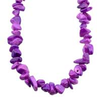 Necklace & Pendants - CHIP STONE NECKLACES AMETHYST PURPLE GENUINE ARAGONITE STONE CHIPS NECKLACE alternate image 1.