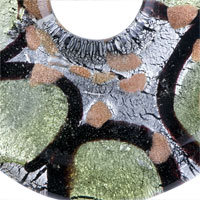 Necklaces - MULTI STRAND GREEN AND BLACK MURANO GLASS PENDANT NECKLACE alternate image 1.