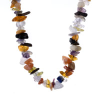 Necklace & Pendants - CHIP STONE NECKLACES GENUINE TOPAZ SEMI PRECIOUS GEMSTONE NUGGET CHIPS STRETCH NECKLACE alternate image 1.