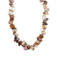 Necklace & Pendants - CHIP STONE NECKLACES GENUINE SAND ROCK SEMI PRECIOUS GEMSTONE NUGGET CHIPS STRETCH NECKLACE alternate image 1.