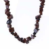 Necklace & Pendants - CHIP STONE NECKLACES GENUINE DARK BROWN SEMI PRECIOUS GEMSTONE NUGGET CHIPS STRETCH NECKLACE alternate image 1.