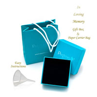New Arrivals - SILVER CREMATION JEWELRY URN NECKLACE CUBOID MEMORIAL KEEPSAKE PENDANT ASHES alternate image 3.