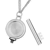 Necklace & Pendants - KEY SILVER URN CREMATION PENDANT NECKLACE KEEPSAKE JEWELRY ASH HOLDER FUNNEL alternate image 1.