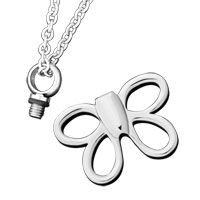 New Arrivals - CREMATION JEWELRY URN NECKLACE STEEL BUTTERFLY MEMORIAL PENDANT ASHES alternate image 1.
