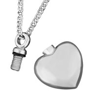 New Arrivals - CREMATION URN SILVER HEART ASH HOLDER NECKLACE JEWELRY ASHES MEMORIALPENDANT alternate image 1.