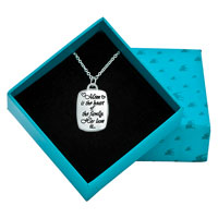 Sterling Silver - 925  STERLING SILVER LOVE MOM RECTANGLE GRAFFITI PENDANT NECKLACE STERLING SILVER PENDANT alternate image 1.