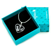 Necklaces - 925 STERLING SILVER DIAMOND ACCENT OPEN HEART LOVE PENDANT NECKLACE 18 GIFT alternate image 1.