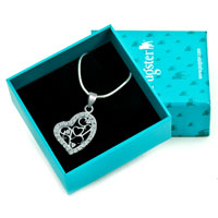 Necklaces - 925 STERLING SILVER DIAMOND ACCENT OPEN HEART LOVE PENDANT NECKLACE 18 alternate image 1.
