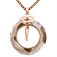 Necklace & Pendants - KARMA NECKLACES CLASSIC LIPS NOVEMBER BIRTHSTONE TOPAZ HOOP NECKLACE PENDANT alternate image 1.